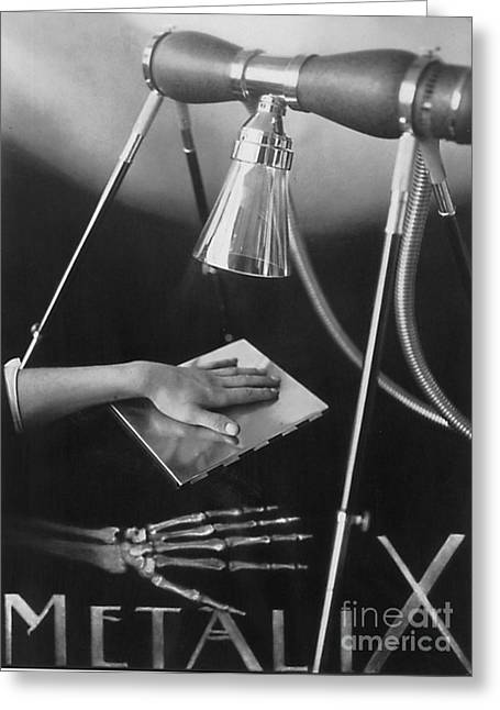 Imposition Greeting Cards - The Marvels Of Metalix 1930 Greeting Card by Science Source