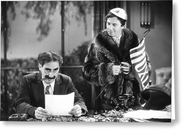 Marx Brothers Greeting Cards - The Marx Brothers, 1932 Greeting Card by Granger