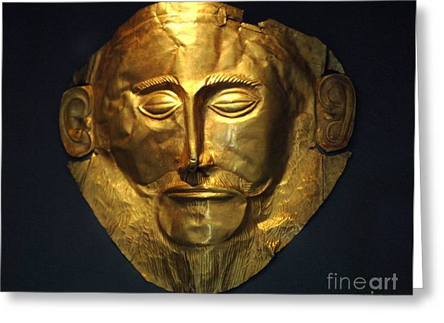 Museum Athens Greeting Cards - The Mask Of Agamemnon Greeting Card by Bob Christopher