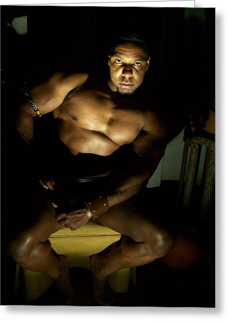 Georgia Bodybuilding Greeting Cards - The Master Greeting Card by Jake Hartz