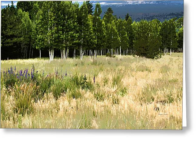 The Meadow Digital Art Greeting Card by Phyllis Denton