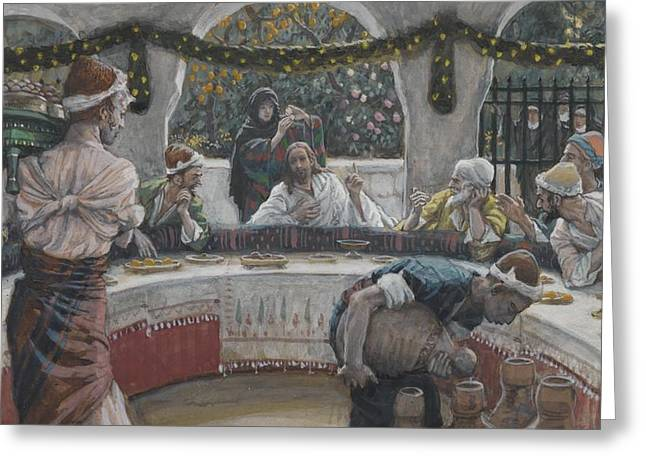 Tissot Greeting Cards - The Meal in the House of the Pharisee Greeting Card by Tissot