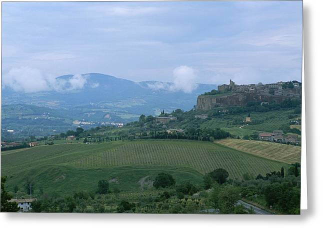 Orvieto Greeting Cards - The Medieval Hill Town Of Orvieto Rises Greeting Card by Taylor S. Kennedy