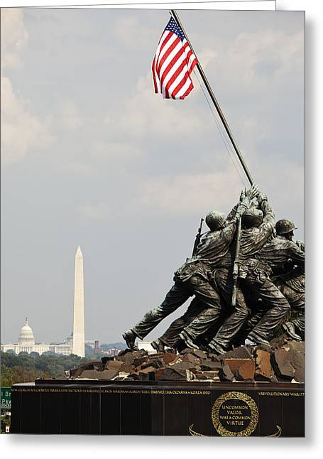 Art Product Greeting Cards - The Memorial To The Fallen Of Iwo Jima Greeting Card by Charles Knox
