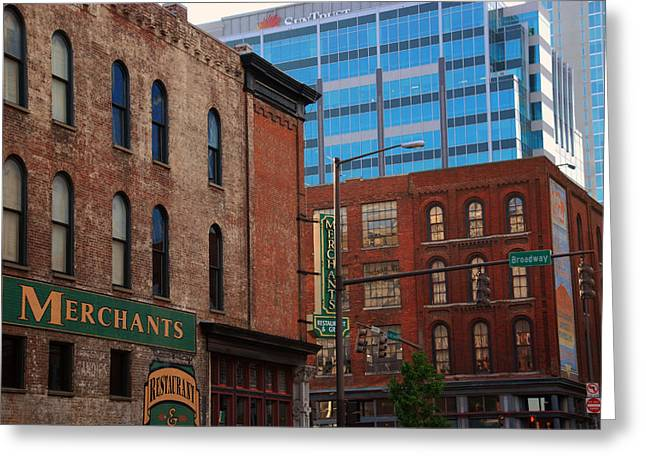Buildings In Nashville Greeting Cards - The Merchants Nashville Greeting Card by Susanne Van Hulst