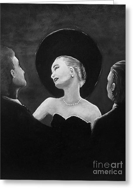 Black Widow Paintings Greeting Cards - The Merry Widow Greeting Card by Paul Horton