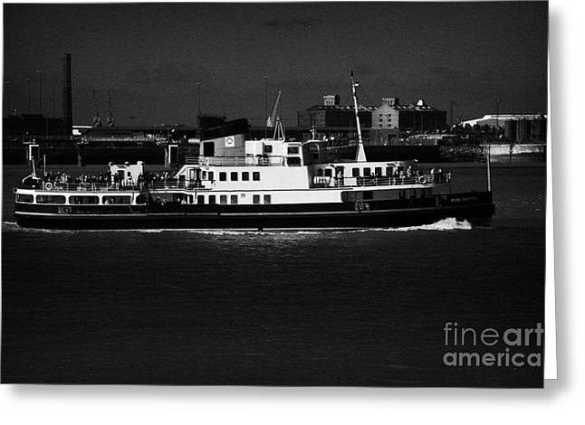 Cross River Greeting Cards - The Mersey Ferry On The River Mersey Liverpool Merseyside England Uk Greeting Card by Joe Fox