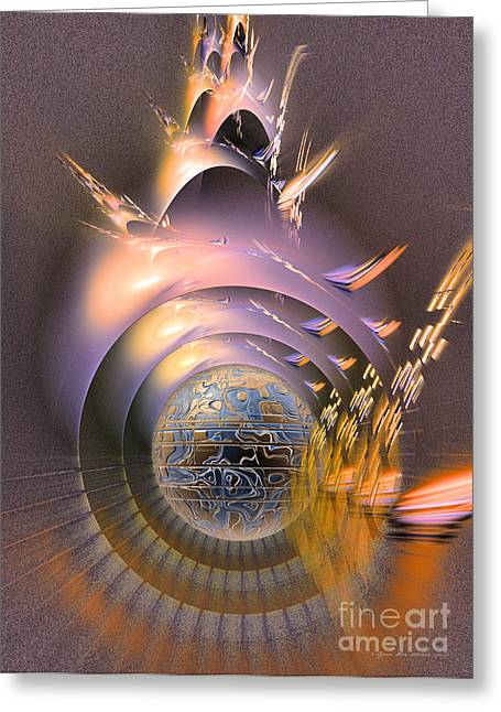 The Message - Fractal Art Greeting Card by Sipo Liimatainen