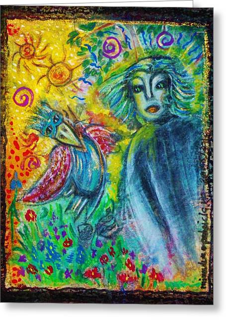 The Messanger Greeting Card by Mimulux Patricia No