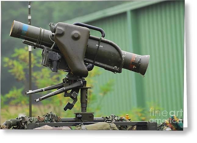 The Milan, Guided Anti-tank Missile Greeting Card by Luc De Jaeger