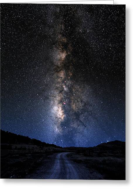 Composite Photo Greeting Cards - The Milky Road Greeting Card by Larry Landolfi