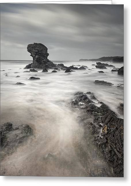 Andy Astbury Greeting Cards - The Milky Sea Greeting Card by Andy Astbury