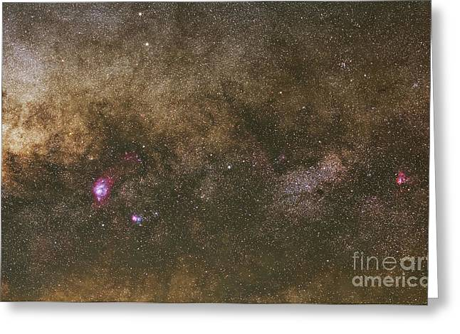 The Milky Way Greeting Card by Luis Argerich