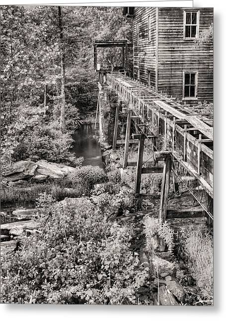Griss Greeting Cards - The Mill in Black and White Greeting Card by JC Findley