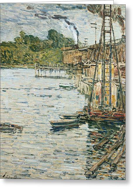 New England Ocean Greeting Cards - The Mill Pond Greeting Card by Childe Hassam