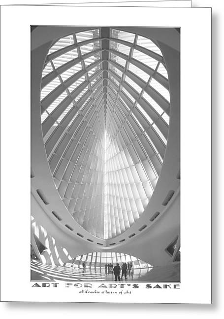 Museums Art Greeting Cards - The Milwaukee Art Museum Greeting Card by Mike McGlothlen