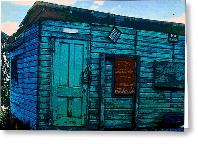 Wooden Building Greeting Cards - The Miners Shack Greeting Card by David Lee Thompson