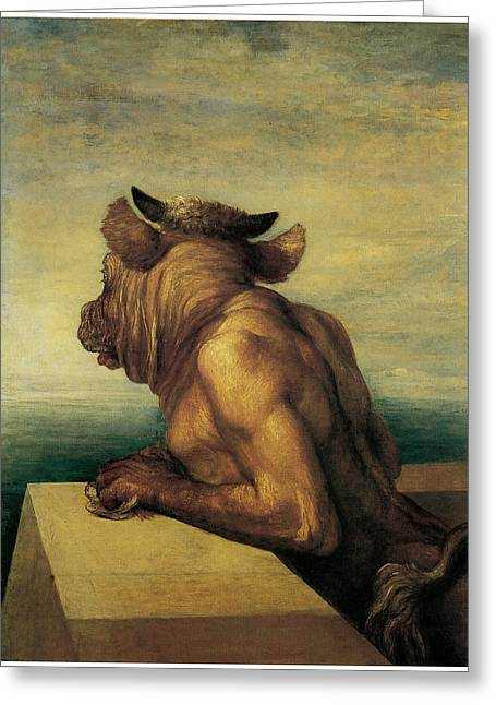 Minotaur Greeting Cards - The Minotaur Greeting Card by George Frederic Watts