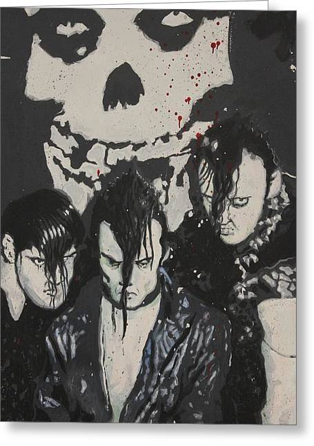 Grafitti Mixed Media Greeting Cards - The Misfits Greeting Card by Dustin Spagnola