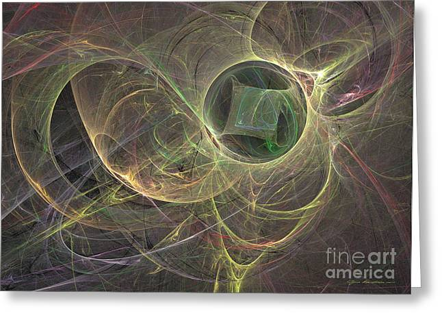 Interior Still Life Mixed Media Greeting Cards - The missing cube - abstract art Greeting Card by Abstract art prints by Sipo