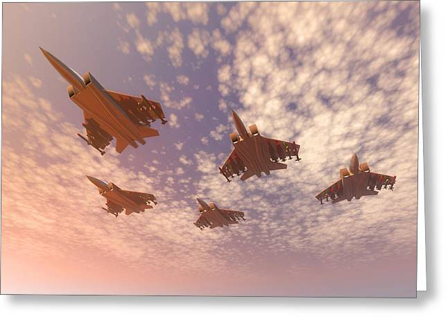 Missing Greeting Cards - The missing man formation. Greeting Card by Carol and Mike Werner