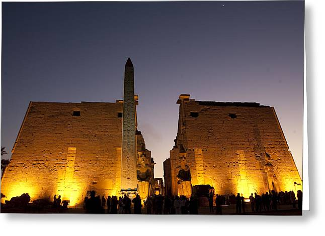 Pharaoh Greeting Cards - The Missing Matching Obelisk Greeting Card by Taylor S. Kennedy