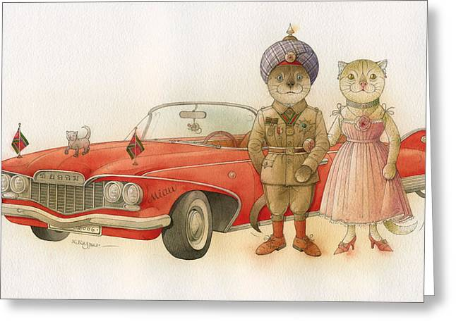 Limousine Greeting Cards - The Missing Picture03 Greeting Card by Kestutis Kasparavicius