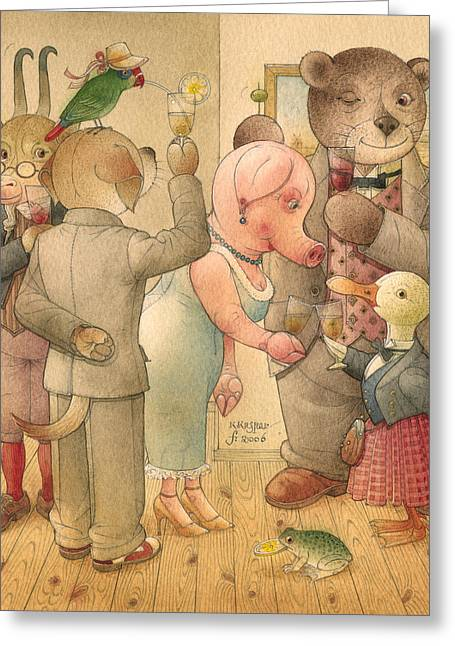 Party Greeting Cards - The Missing Picture06 Greeting Card by Kestutis Kasparavicius