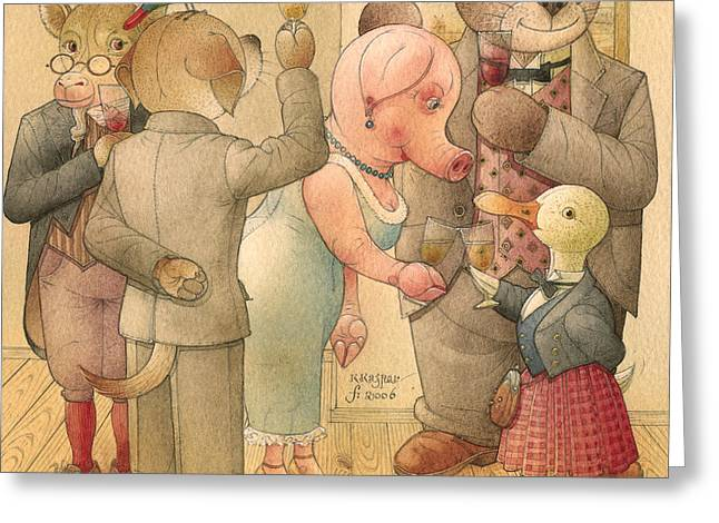 The Missing Picture06 Greeting Card by Kestutis Kasparavicius