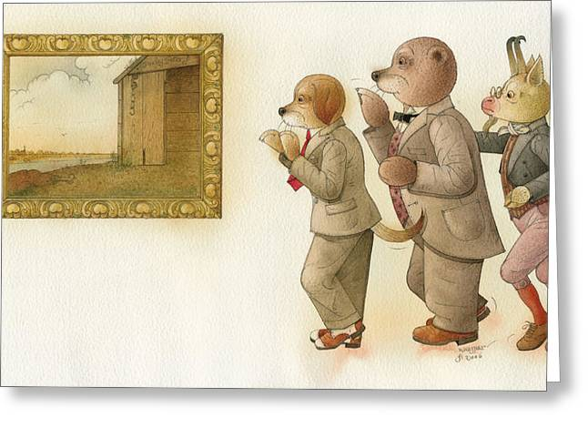 The Missing Picture24 Greeting Card by Kestutis Kasparavicius