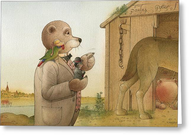 The Missing Picture29 Greeting Card by Kestutis Kasparavicius