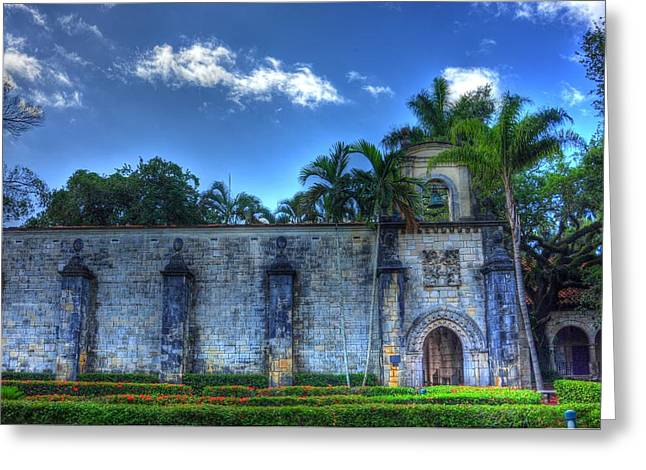 Medieval Temple Greeting Cards - The monastery Greeting Card by Armando Perez