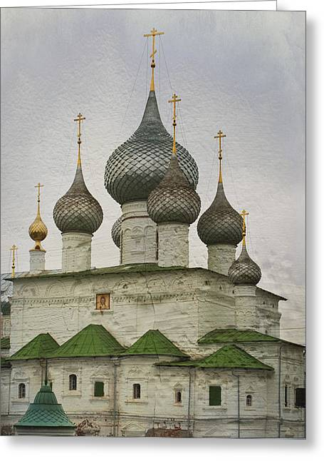 Sacred Greeting Cards - The Monastery of the Resurrection. Uglich Russia Greeting Card by Juli Scalzi