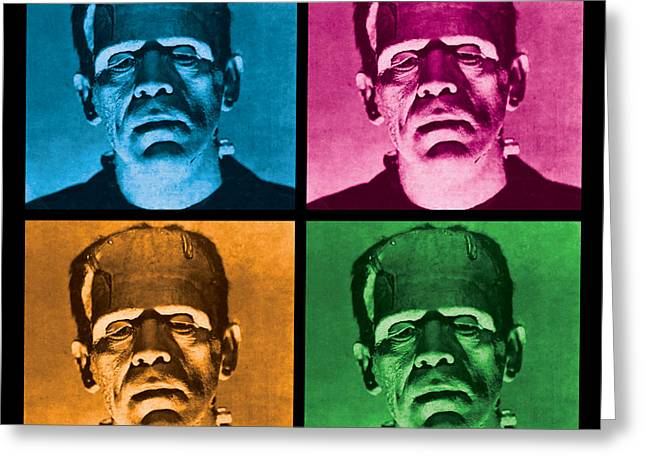 Warhol Art Greeting Cards - The Monster x 4 Greeting Card by Gary Grayson