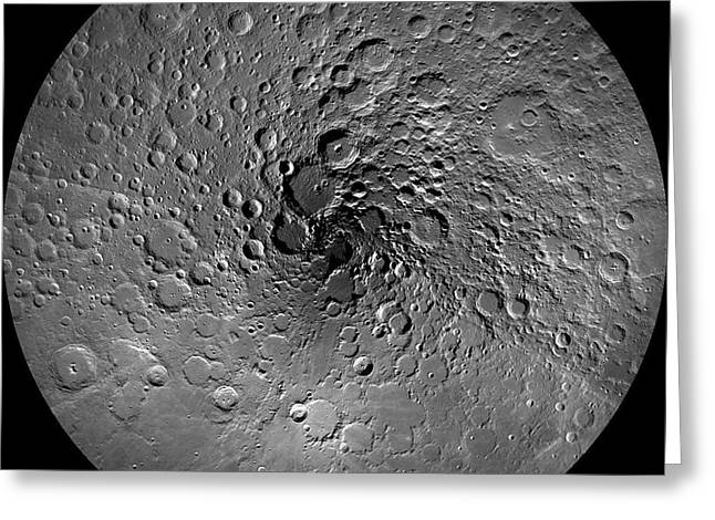 Nasa Space Program Greeting Cards - The Moons North Pole Greeting Card by NASA/Science Source