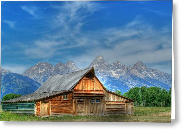Barn Landscape Photographs Greeting Cards - The Morman Barn Greeting Card by Ken Smith