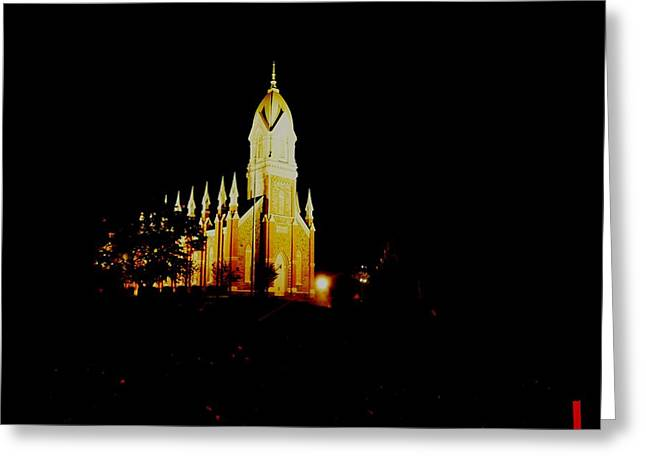 The Morman Temple In Brigham City Greeting Card by Jeff Swan