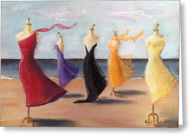 Evening Dress Pastels Greeting Cards - The Morning After Greeting Card by Ellen Minter