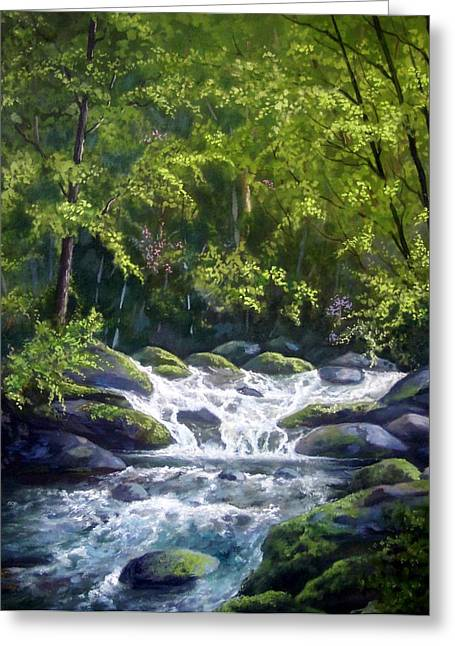 Smoky Paintings Greeting Cards - The Morning Rush Greeting Card by James Potter