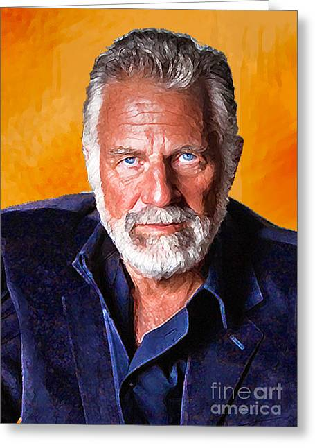 Beer Digital Art Greeting Cards - The Most Interesting Man in the World II Greeting Card by Debora Cardaci