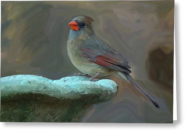 Bird Bath Greeting Cards - The Mother Card Greeting Card by Patti Siehien