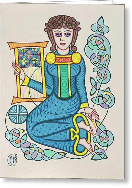 Knotwork Greeting Cards - The Mother Greeting Card by Ian Herriott