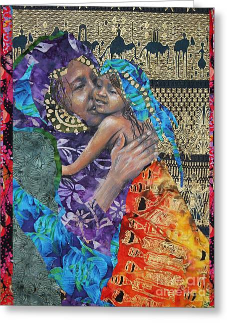 African-american Mixed Media Greeting Cards - The Mother Line-Teaching Our Daughters Well Greeting Card by Gary Williams