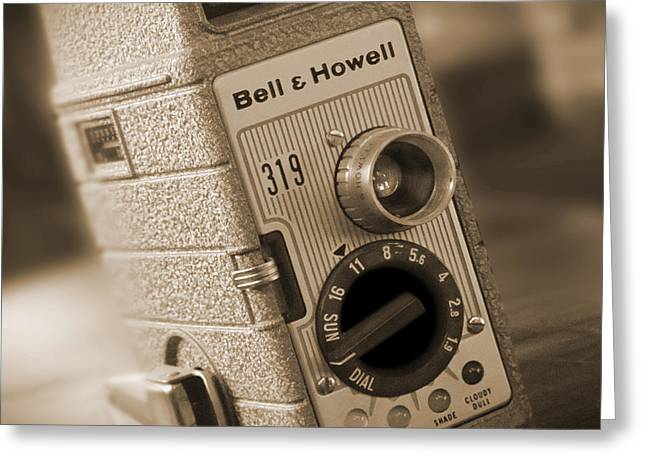 Howell Greeting Cards - The Movie Camera Greeting Card by Mike McGlothlen