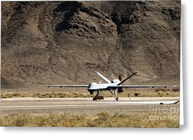 Aeronautics Greeting Cards - The Mq-9 Reaper Greeting Card by Stocktrek Images