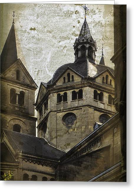 Minster Greeting Cards - The Munsterkerk Roermond Greeting Card by Mary Machare