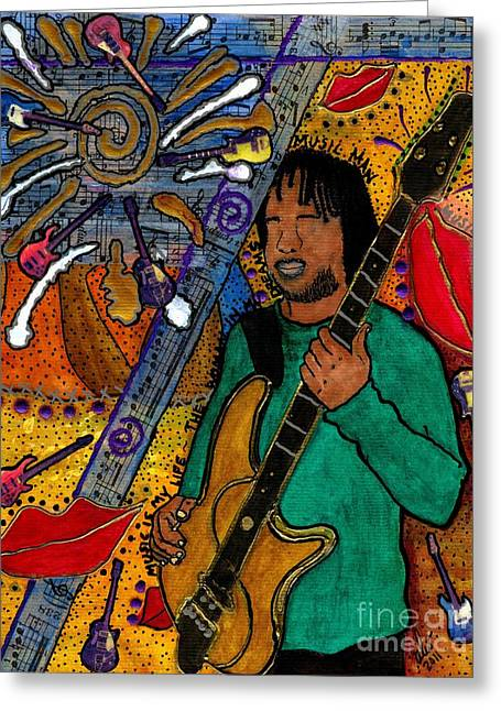 Survivor Art Greeting Cards - The Music LOVER Greeting Card by Angela L Walker
