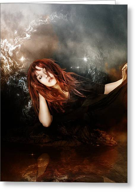 Mystical Women Greeting Cards - The Mystic Greeting Card by Karen H