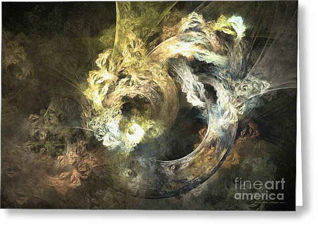 Interior Still Life Mixed Media Greeting Cards - The mystical garden - abstract art Greeting Card by Abstract art prints by Sipo