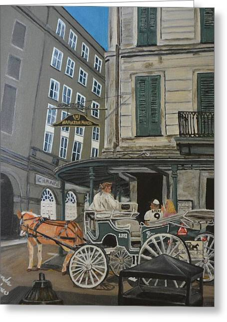 The Napolean House Greeting Card by Amanda Ladner